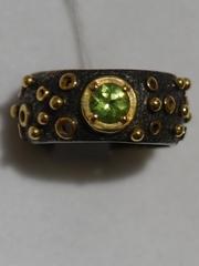 Суаре (кольцо из серебра с позолотой)