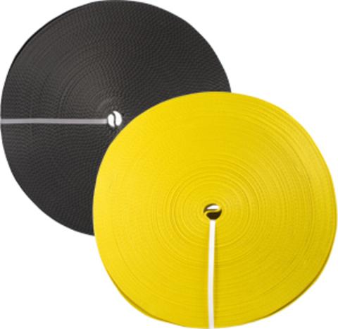 Лента текстильная TOR 5:1 75 мм 9000 кг (желтый), 100м