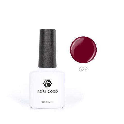 Цветной гель-лак ADRICOCO №026 бордовый (8 мл.)