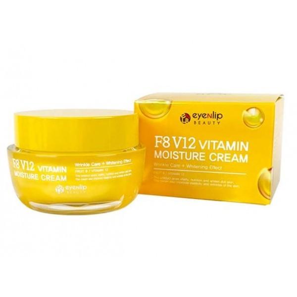 EYENLIP Крем для лица EYENLIP F8 V12 VITAMIN MOISTURE CREAM 50g Eyenlip-f8-v12-vitamin-moisture-cream.jpg