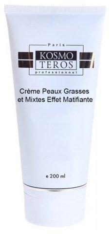 Крем для жирной и комбинированной кожи с матирующим эффектом/ Creme Matifiante Peaux Grasses et Mixtes, Kosmoteros (Космотерос), 200 мл