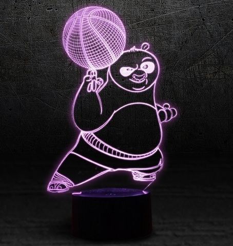 3D светильник Кунг-фу панда — 3D light Kung Fu Panda