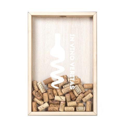 Копилка для винных пробок In Vino Veritas (белая надпись) БУК