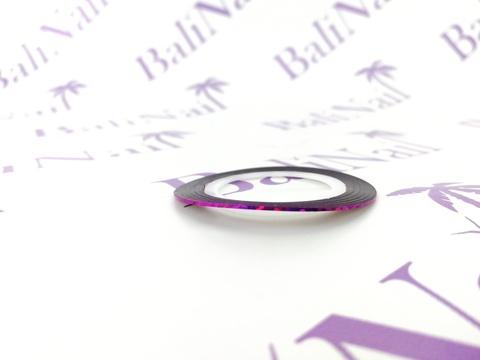 Самоклеящаяся лента для дизайна ногтей (фуксия голограф.)