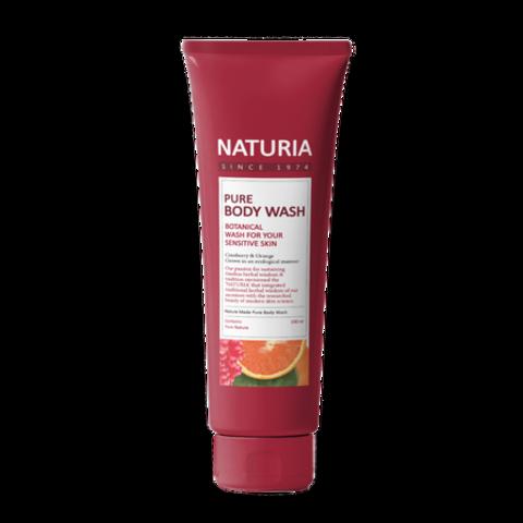 Evas Naturia Pure Body Wash Cranberry & Orange гель для душа с фруктовым ароматом сладкого апельсина, клюквы и зеленого яблока
