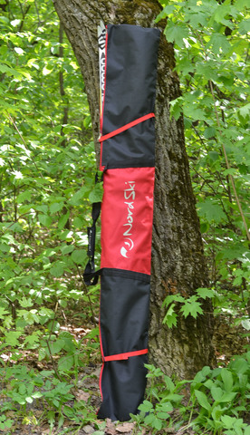 Чехол для беговых лыж Nordski 195 см 1 пара Black/Red