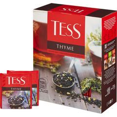 Чай Tess Thyme черный с чабрецом и цедрой лимона 100 пакетиков