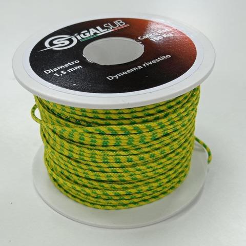 Линь Dyneema желто-зеленый 1,5 – 88003332291 изображение 1