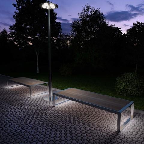 скамья с подсветкой