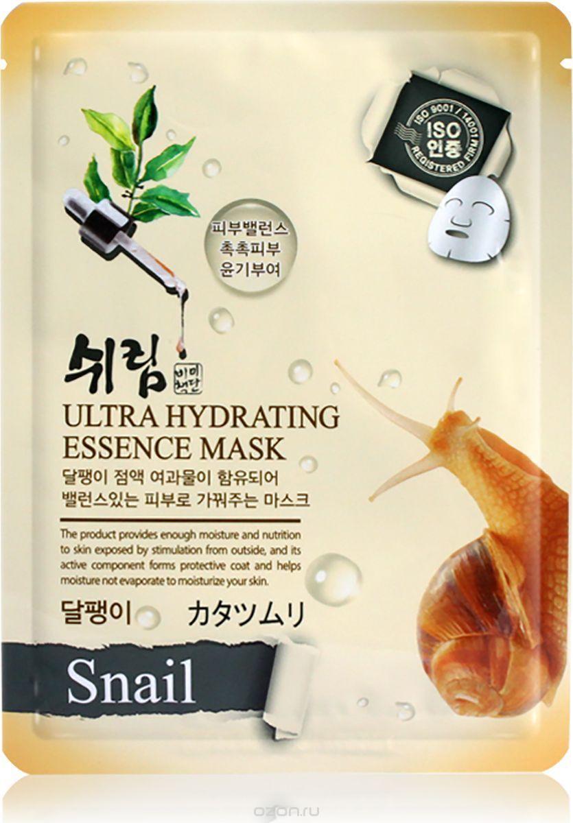 Маска тканевая для лица с муцином улитки Shelim Hydrating Essence Mask - Snail