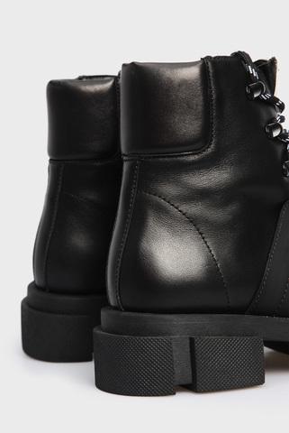 Женские черные кожаные ботинки PRPY