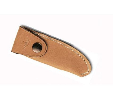 Чехол кожаный на пояс для складного ножа с лезвием 11 см. натурального цвета., Forge de Laguiole, дизайн Buron B 2 F