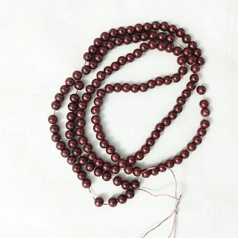 Бусины на нитке под жемчуг 6мм №36в 140штук