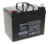 Аккумулятор General Security GS 33-12 ( GS12-33 ) ( 12V 33Ah / 12В 33Ач ) - фотография