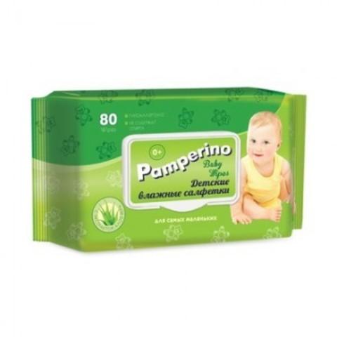 Влажные салфетки детские Pamperino 80 штук в упаковке