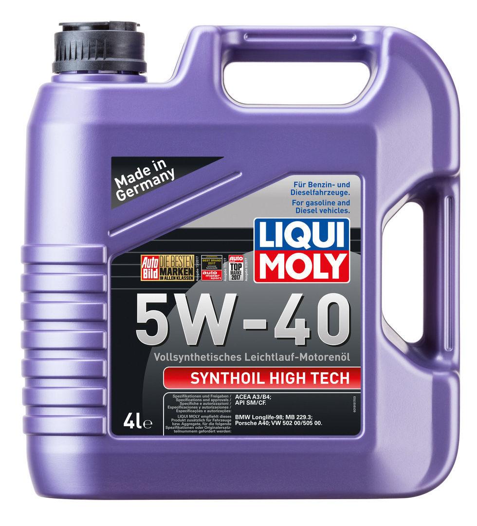 Liqui Moly Synthoil High Tech 5W40 Синтетическое моторное масло (1915)