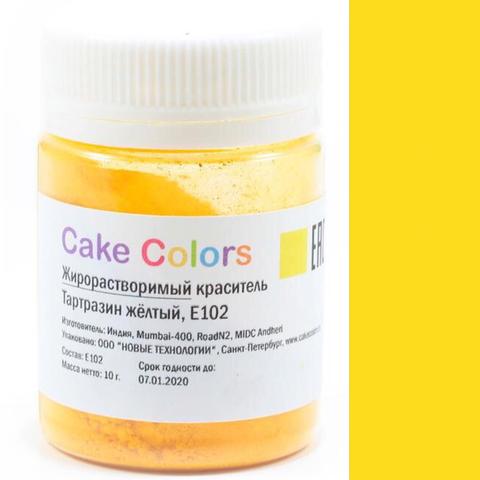 Краситель пищевой ЖИРОРАСТВОРИМЫЙ для шоколада Cake Colors ТАРТРАЗИН ЖЕЛТЫЙ