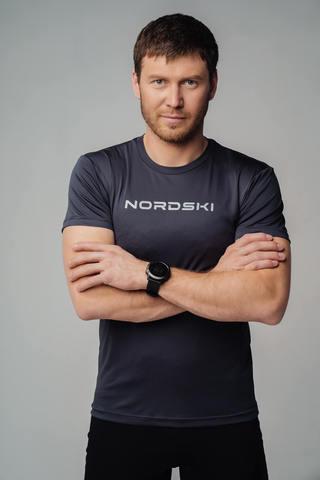 Футболка Nordski Logo graphite NEW мужская
