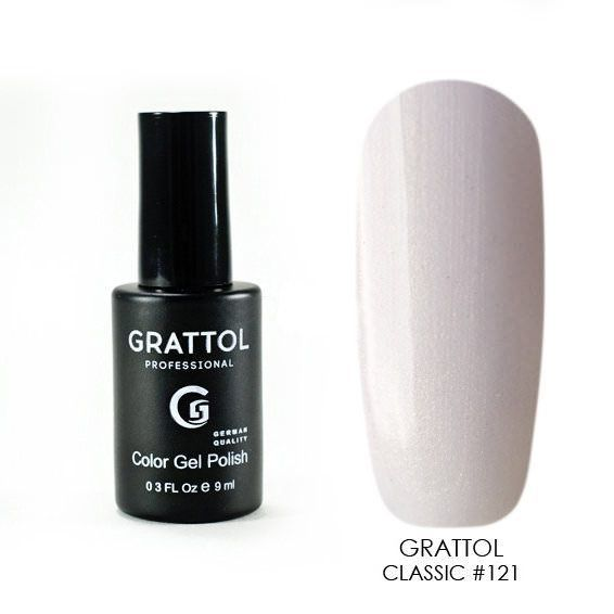 Classic Collection Grattol, Гель-лак 121, Cream Pearl, 9 мл 121.jpg