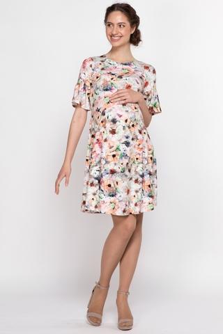 Платье для беременных и кормящих 10724 персиковый