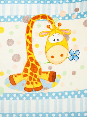 Чудо-Чадо. Плед Мимилашка ультрасофт 120х88 см, голубой/жираф
