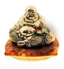 """Сувенир """"Будда"""" на янтарной подушечке"""