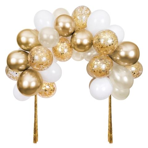 Гирлянда арка из воздушных шаров золото