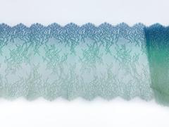 Кружево реснички ментол/синий (23*145 см)