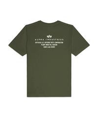 Футболка Alpha Industries Reflective Contract Olive (Зеленая)