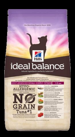 купить Hill's™ Ideal Balance™ Feline Adult with Tuna & Potato сухой беззерновой корм для кошек с тунцом и картошкой  2 кг