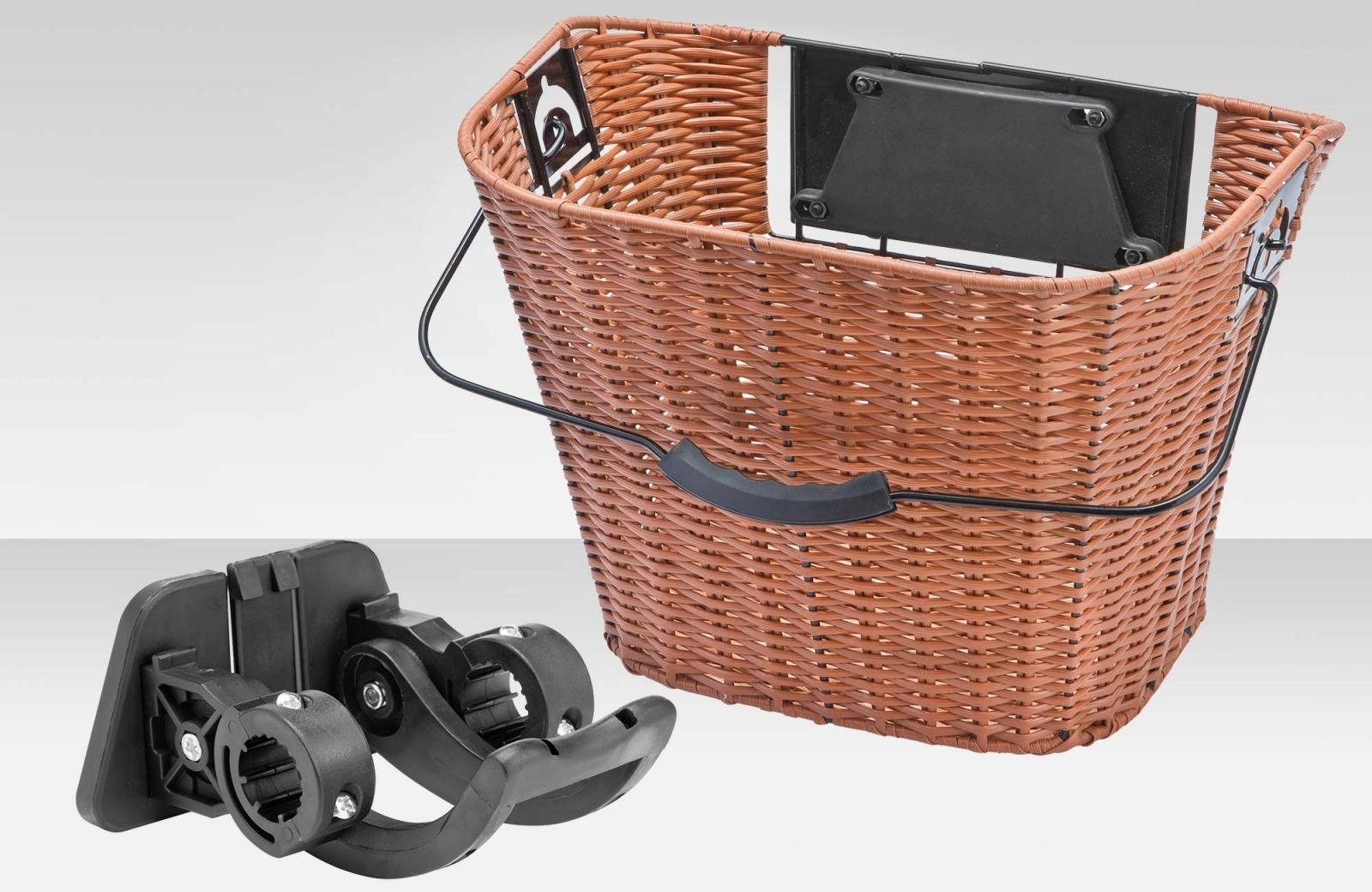 Велокорзина Eastman передняя, дерево-пластик, быстросъемная