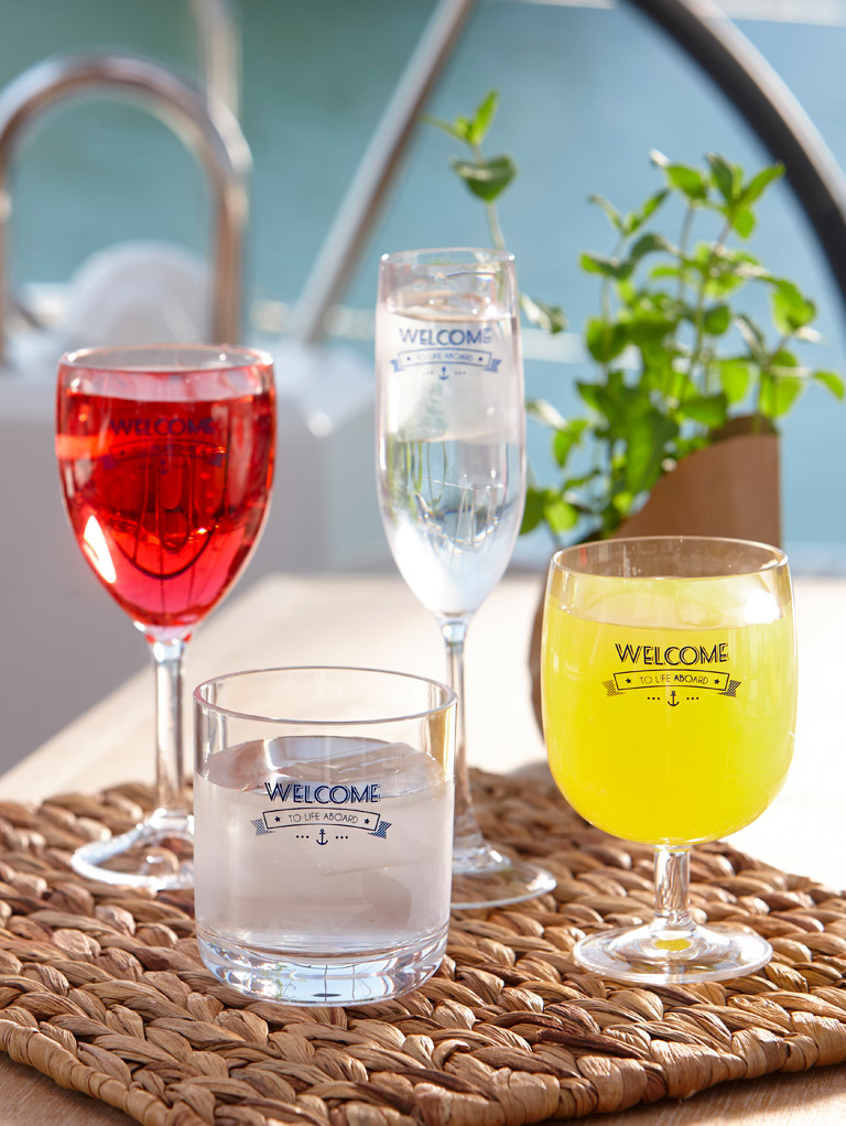 CHAMPAGNE GLASS, PARTY – WELCOME TO LIFE – POLYCARBONATE