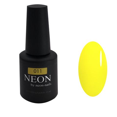 NEON, гель-лак Yellow № 011 , (12 ml) неоновый желтый