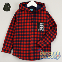 Рубашка (фланель, капюшон, нашивка)