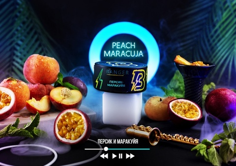 Табак Banger Peach Maracuja (Персик, Маракуйя) 100г