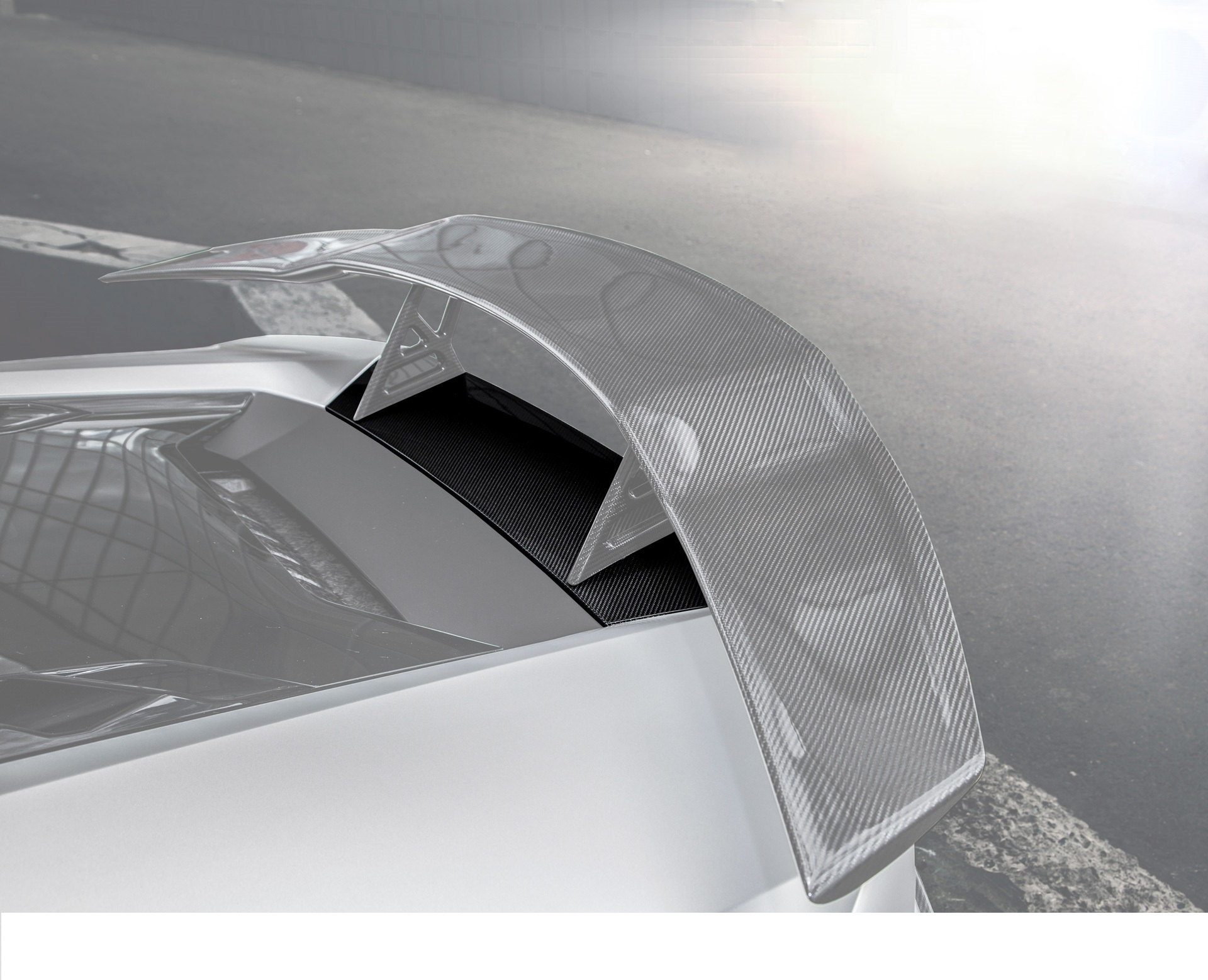 Карбоновая база под антикрыло Edition 1 Style для Mercedes GT-class C190