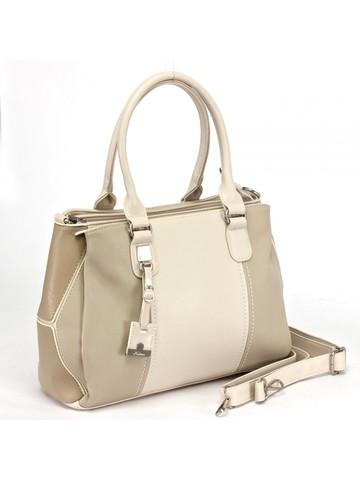 Классическая сумка бежевого цвета