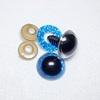Глазки сверкающие голубые 14 мм (1 пара)