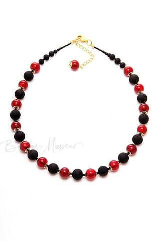 Ожерелье Domino рубиновое