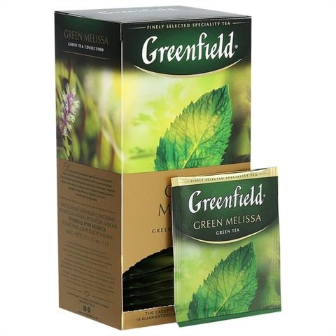 Чай GREENFIELD Травяной Green Mellisa 25*1,5 гр п/пак РОССИЯ