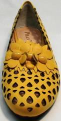 Летние туфли босоножки с закрытым носом и закрытой пяткой Phany 103-28 Yellow.