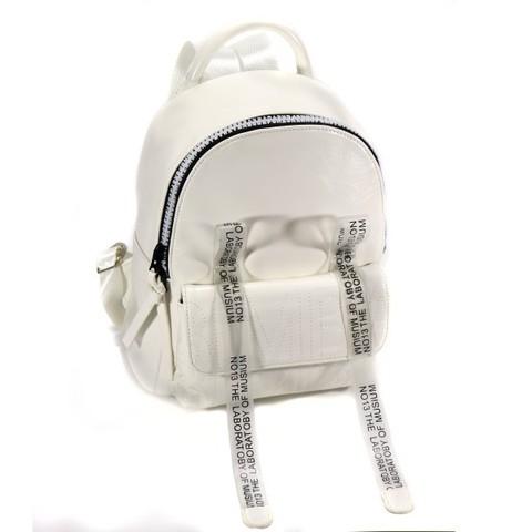 Рюкзак белый с фурнитурой