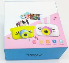 игрушечный детский фотоаппарат с чехлом зайчик упаковка коробка