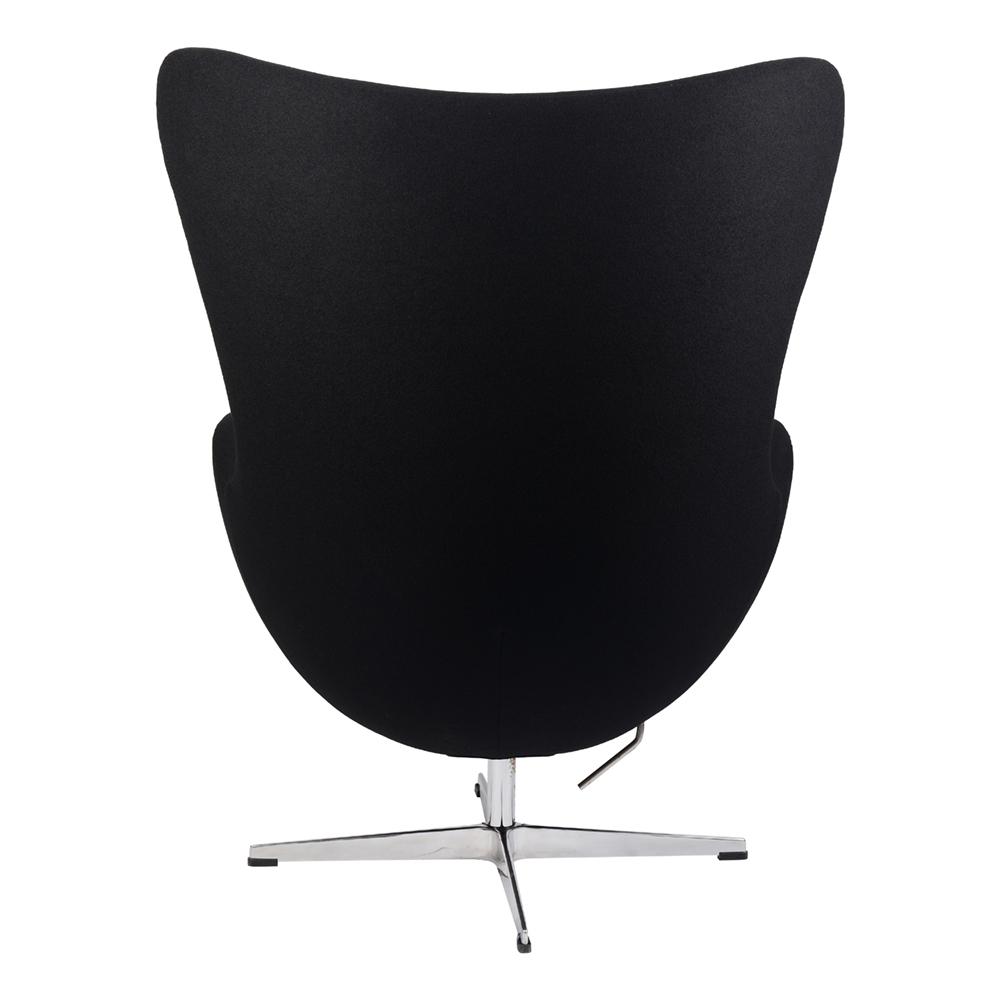 Кресло Arne Jacobsen Style Egg Chair черная шерсть - вид 4