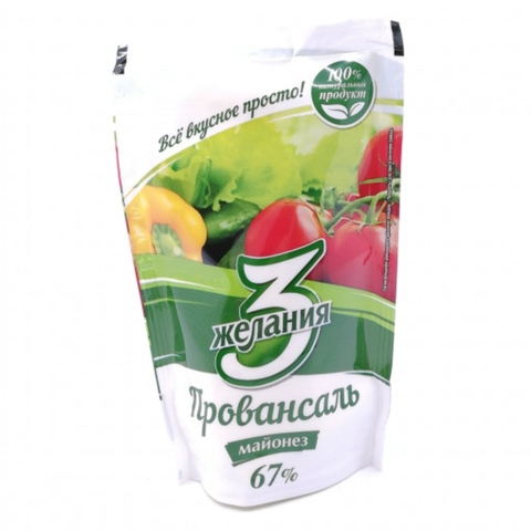 Майонез 3 ЖЕЛАНИЯ Провансаль 150 гр ДП КАЗАХСТАН