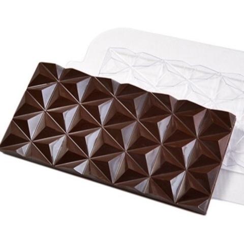 Пластиковая форма для шоколада ср. ПЛИТКА ПИРАМИДКИ (170х85мм)