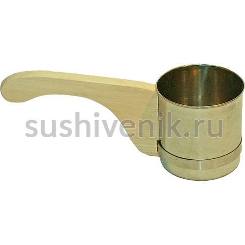 Ковш-черпак металлический с деревянной ручкой