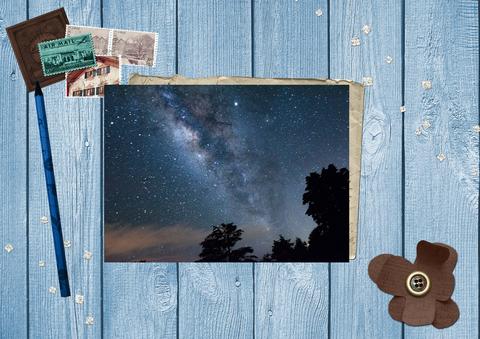 Млечный путь и звезды