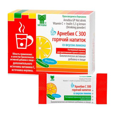 АРНЕБИЯ С 300 горячий напиток со вкусом лимона, 10 пакетиков по 5,5 г