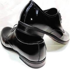 Дерби туфли классика мужские лак Ikoc 2118-6 Patent Black Leather